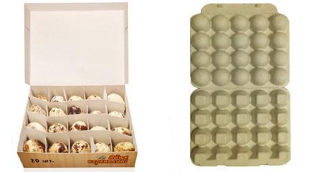 картонная упаковка для перепелинных яиц фото